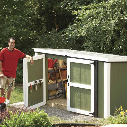 garden tool and lawn mower shed