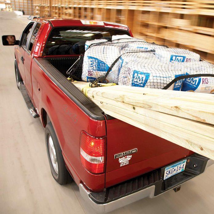 hauling lumber truck