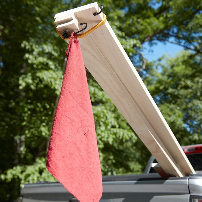 fly your own flag for extra long lumber loads pick up truck