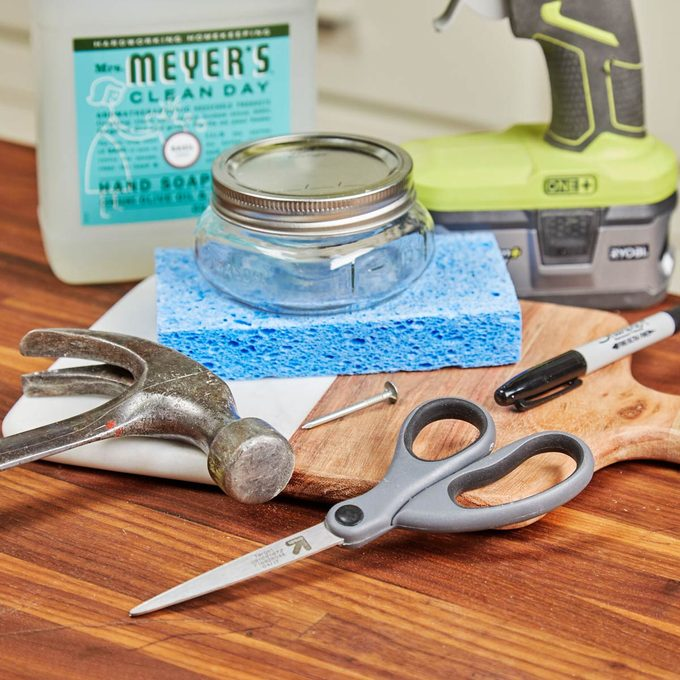 HH Handy Hint diy mason jar dish scrubber
