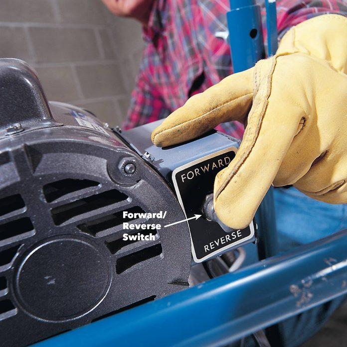Reverse drain cleaner