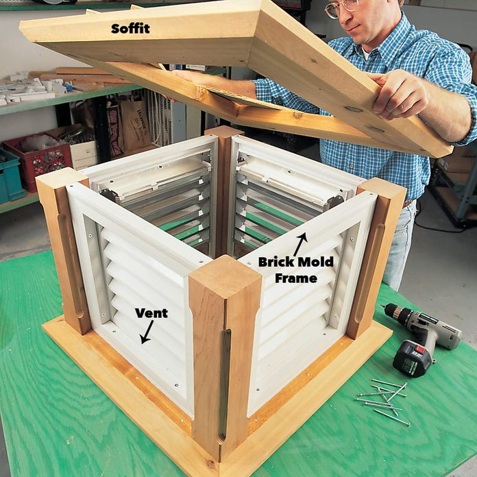 Add the vents to the frames cupola