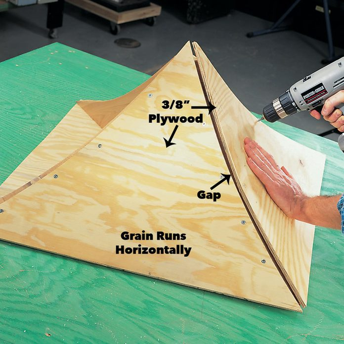 Screw the sheathing to the rafters