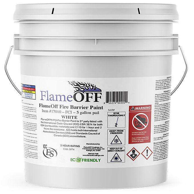 Bucket of fire Retardant coating   Construction Pro Tips