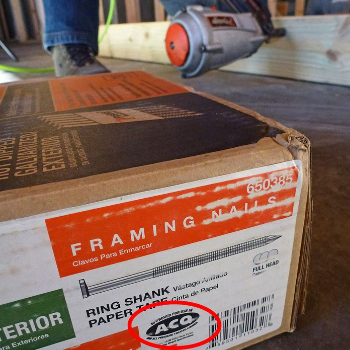 A package of framing nails for treated wood   Construction Pro Tips