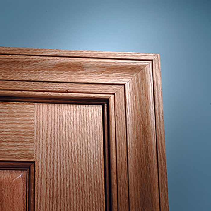 Stained miter on the other side of the door | Construction Pro Tips