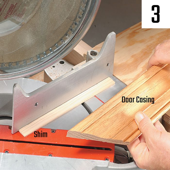 Using a shim to get the right angle on your cut | Construction Pro Tips