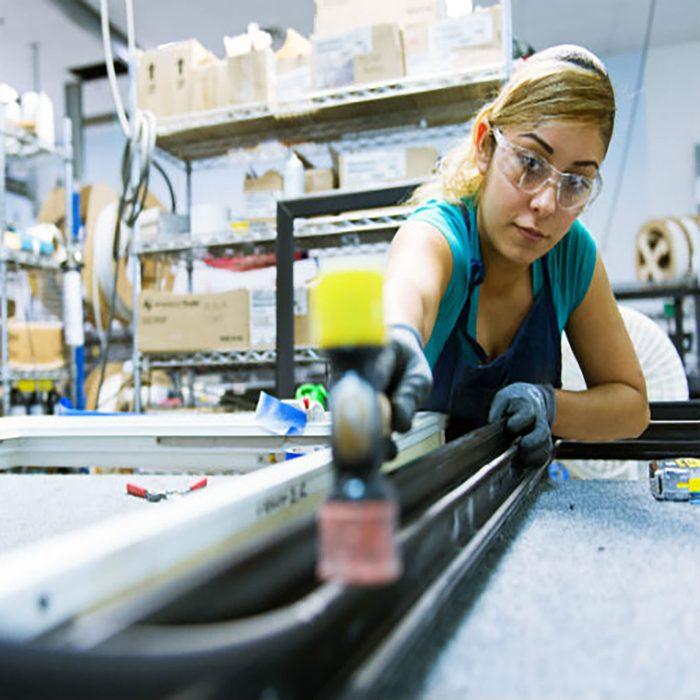 Woman making an Alpen window   Construction Pro Tips