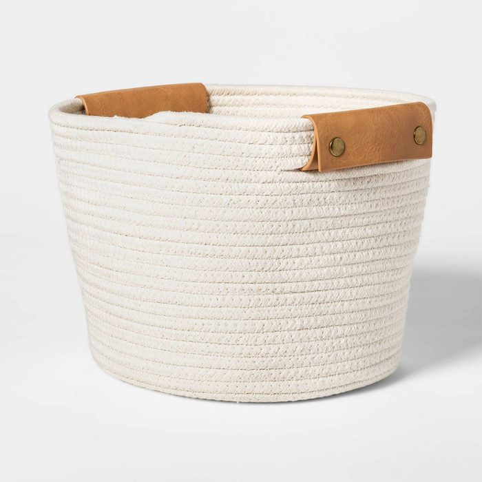 Decorative Coiled Rope Basket