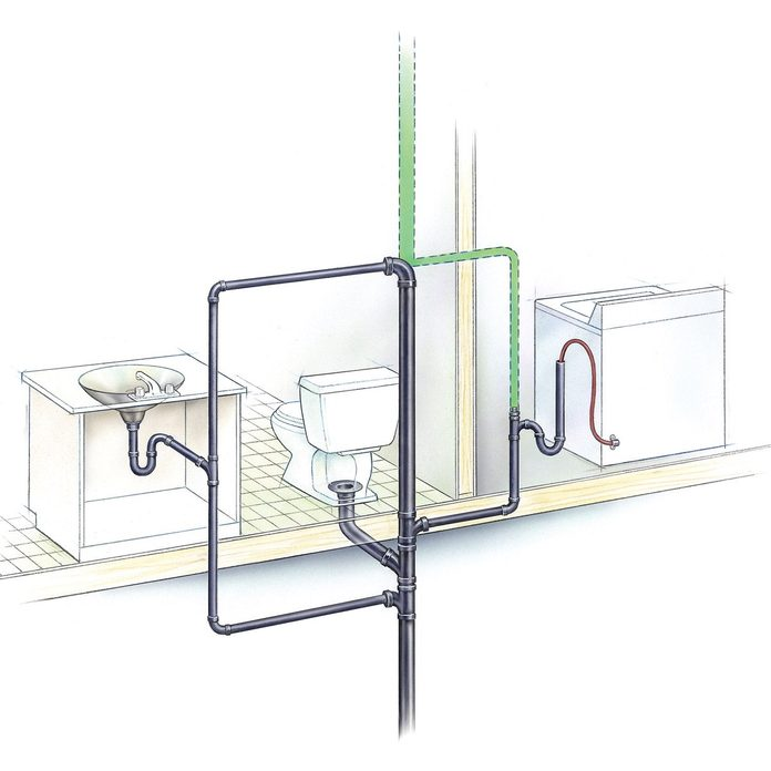 Bubbling Toilet diagram