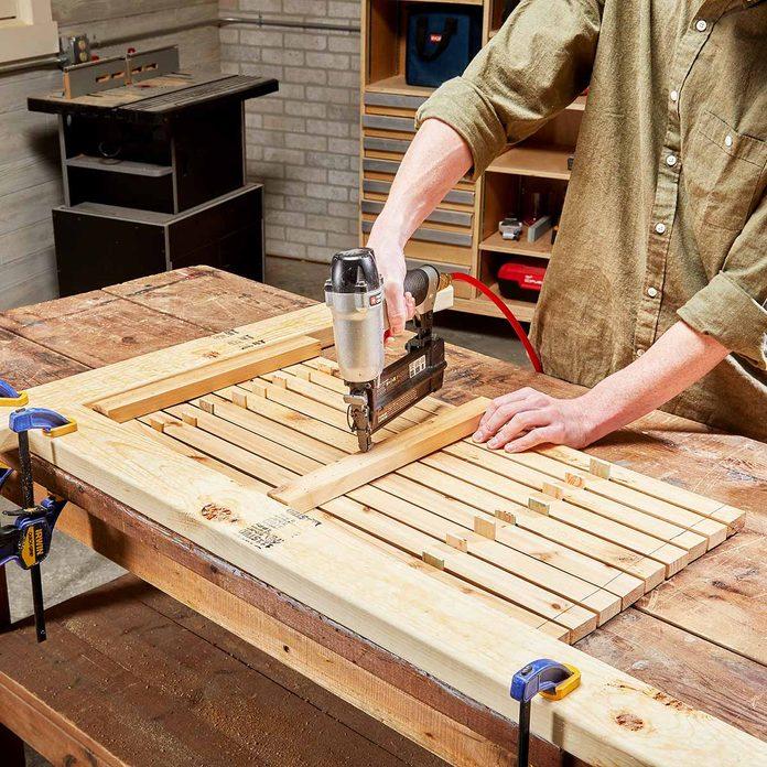 assemble cedar bath mat