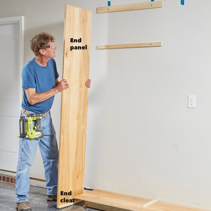 install cabinet end panel