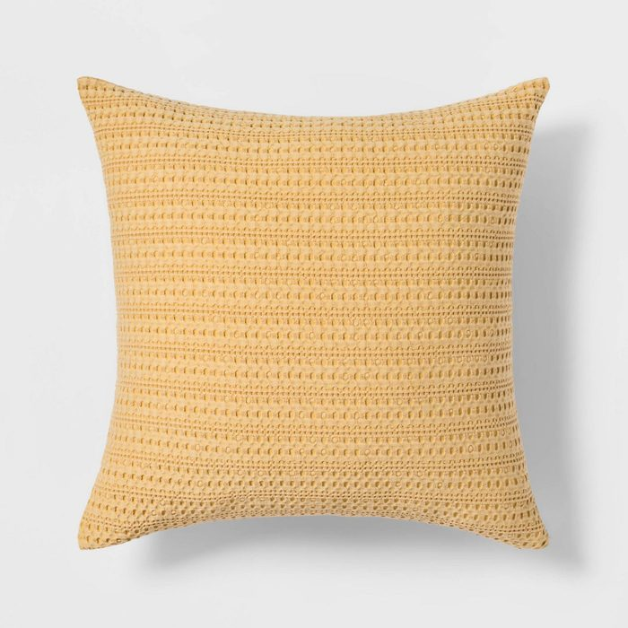 Waffle Washed Throw Pillow