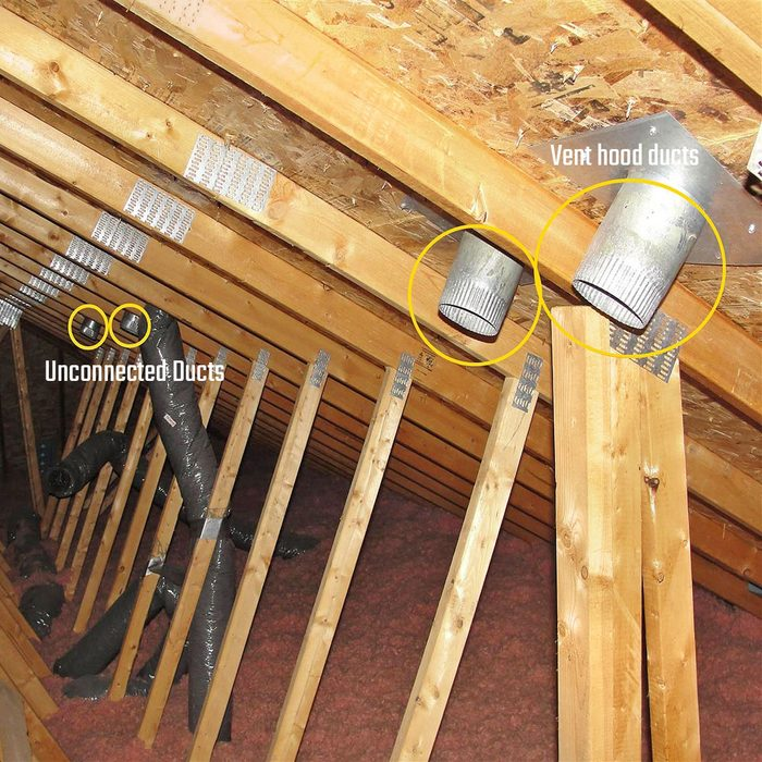 Unconnected ducts and vent hood ducts   Construction Pro Tips