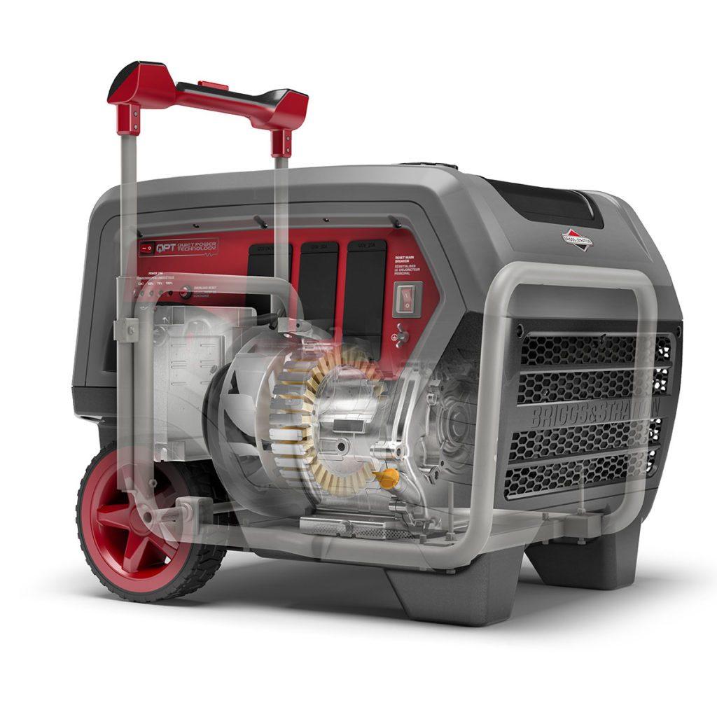 Briggs Q6500 Quiet Power Generator Interior View | Construction Pro Tips