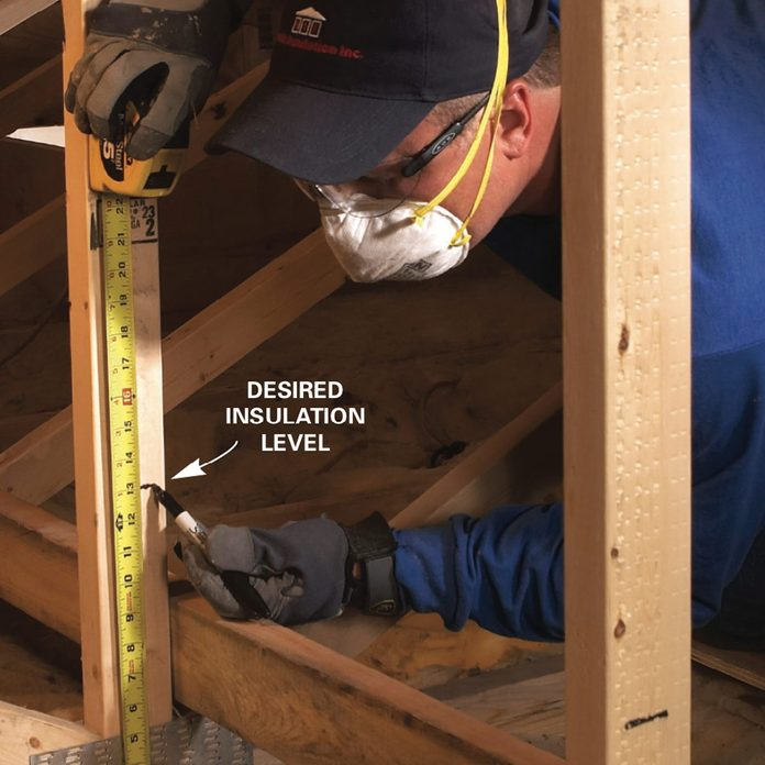 Mark your final insulation level