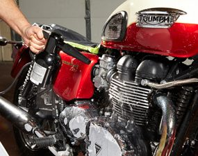 best way to clean a motorcycle blow dry it clean