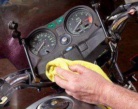 clean motorcycle dash