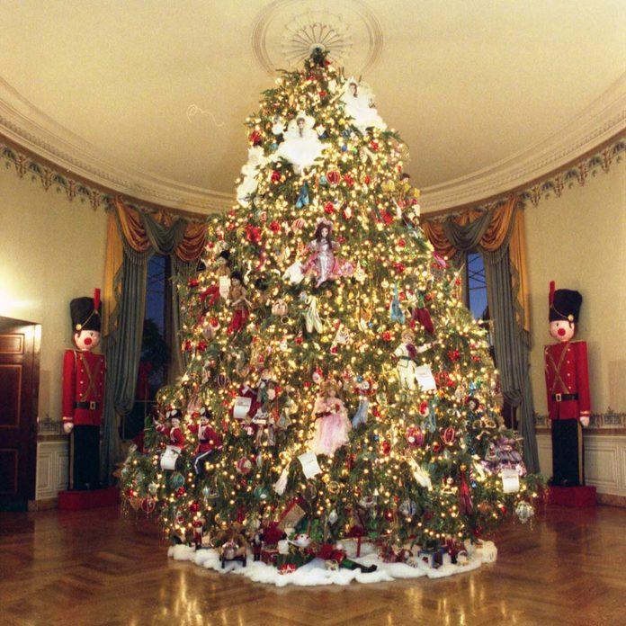 George H.W. Bush White House Christmas tree
