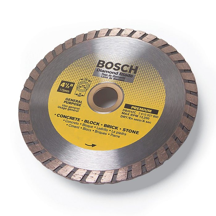 A diamond blade from bosch   Construction Pro Tips