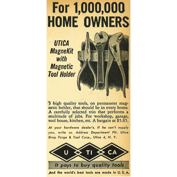 A vintage ad for a magnetic tool holder | Construction Pro Tips