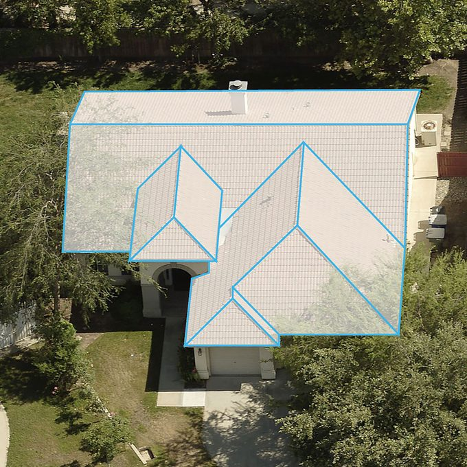 The top view of a house with a digital roof imposed on top   Construction Pro Tips