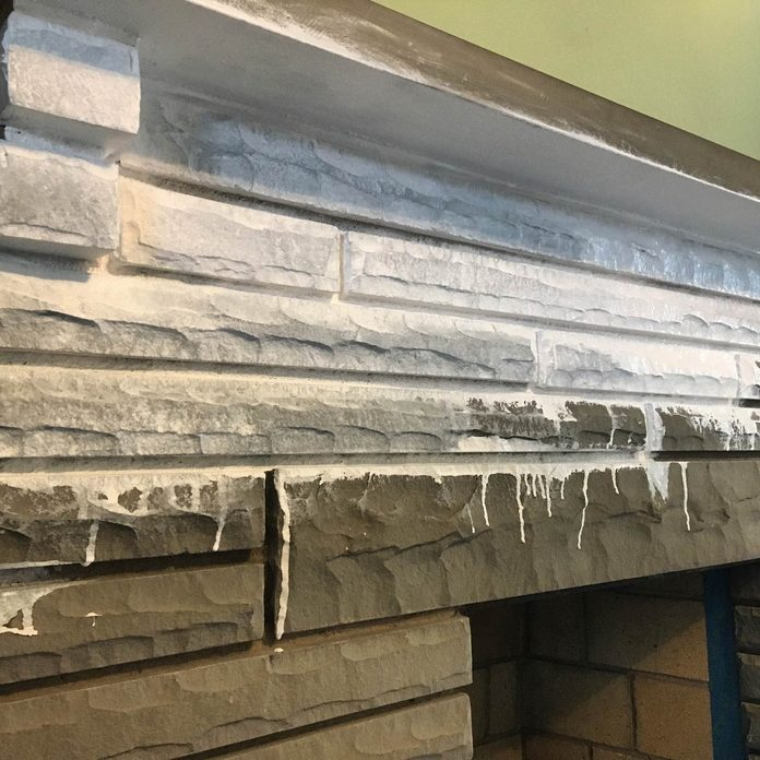 white wash-painted-fireplace