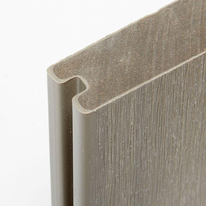 Close up shot of a piece of Newtech decking | Construction Pro Tips
