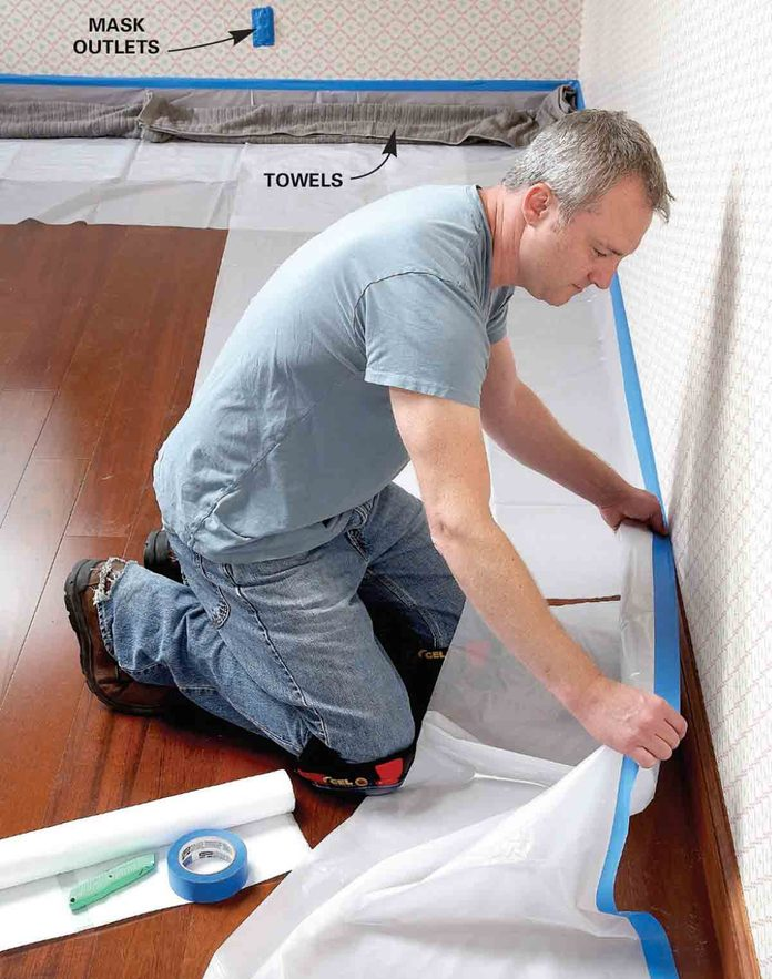 Protect the floor and woodwork