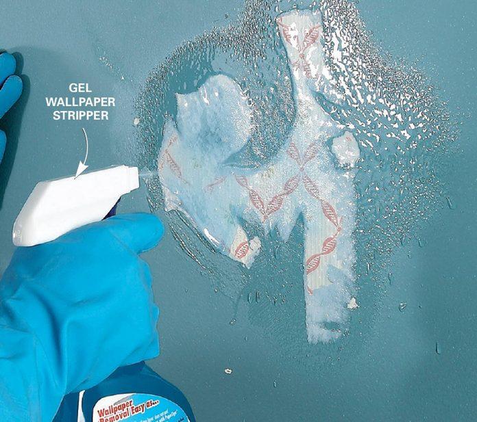 Use gel stripper on stubborn paste