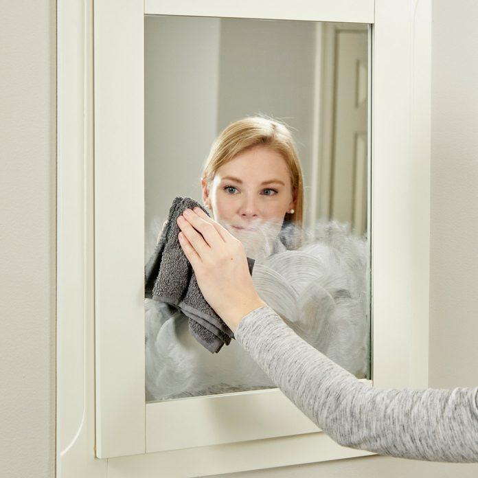 HH handy hint wipe off car wax fog free mirror