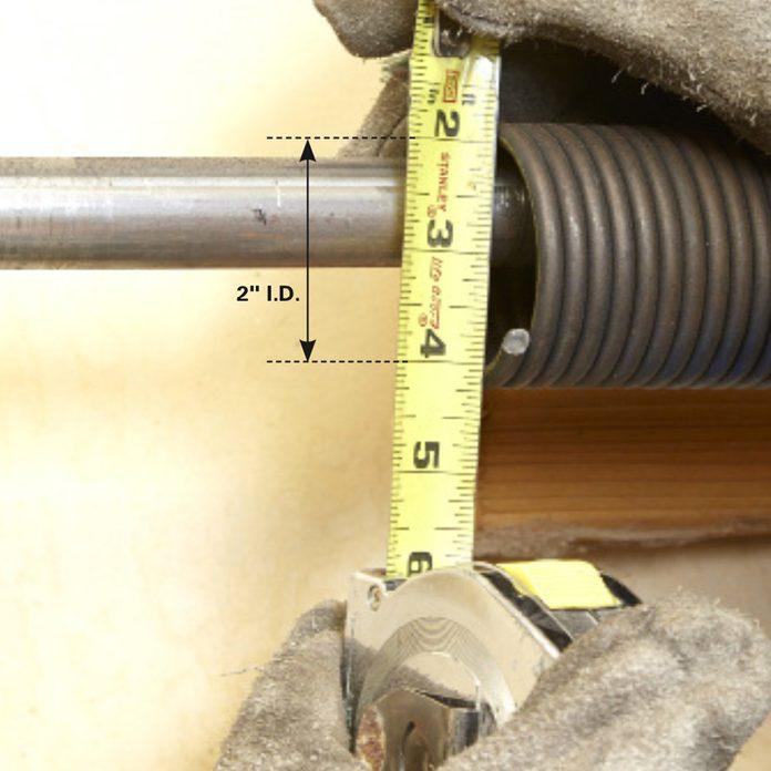 how to measure the inner diameter of the broken spring