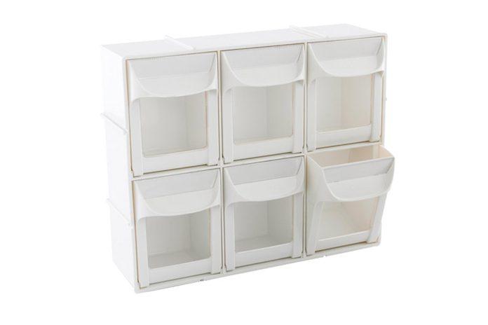 Modular flip out bins