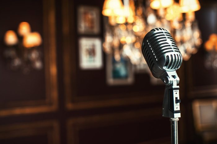 Old-fashioned microphone