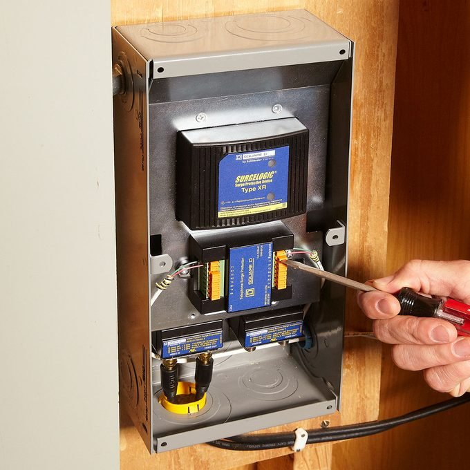 A whole-home surge protector   Construction Pro Tips