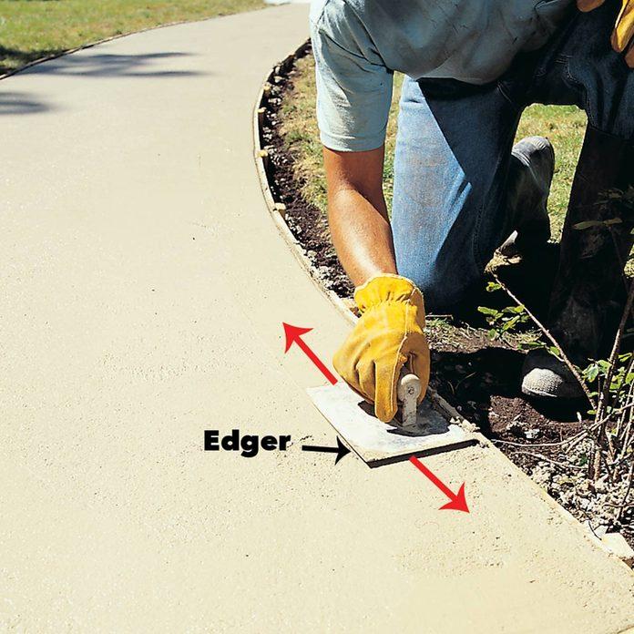 concrete sidewalk round over edges