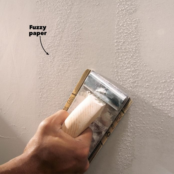 drywall sanding prime walls fuzzy paper