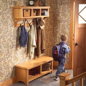 How to Build an Entryway Coat Rack and Storage Bench