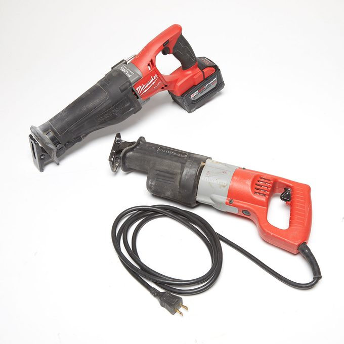 Both a corded and a cordless reciprocating saw   Construction Pro Tips