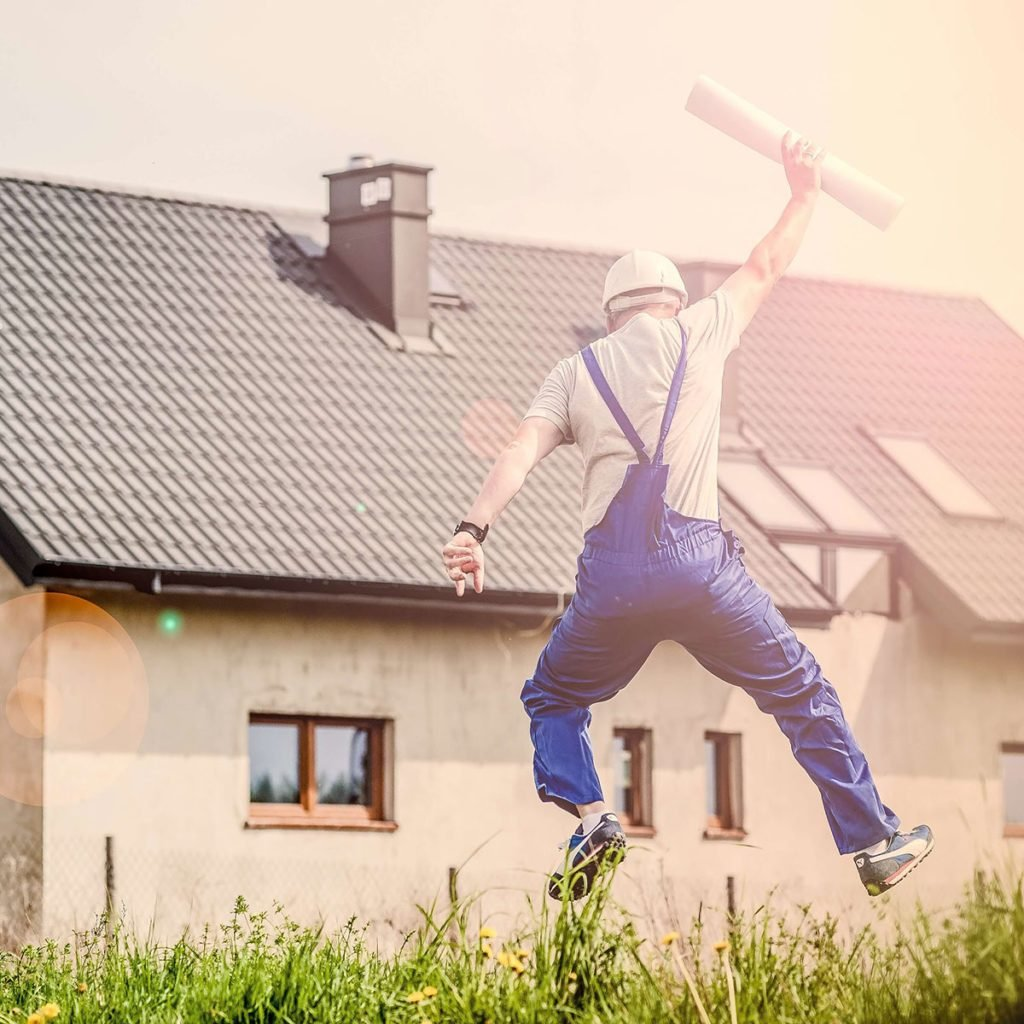 Contractor jumping for joy   Construction Pro Tips