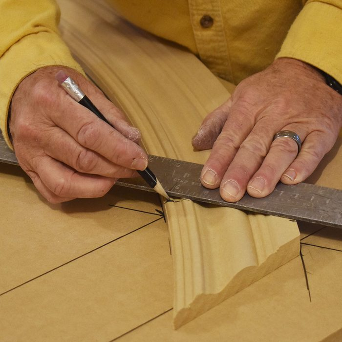 Transfer the cut line onto the radius trim | Construction Pro Tips
