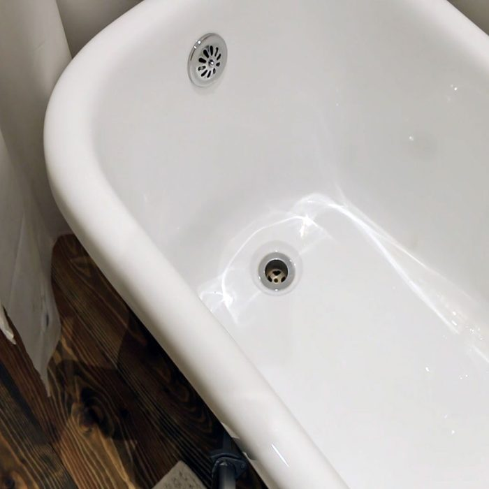 The inside of a bathtub (white) | Construction Pro Tips