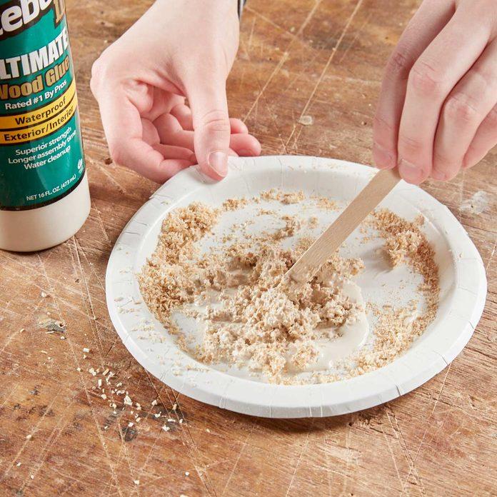 HH DIY wood filler sawdust