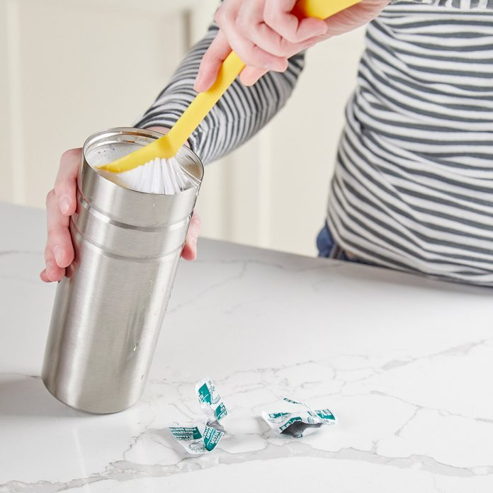 HH denture cleaning tablets clean coffee thermos