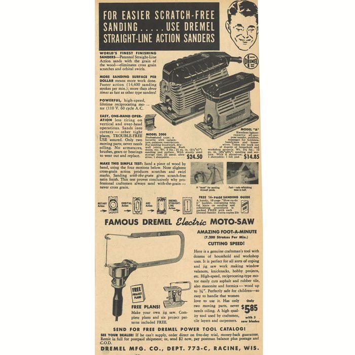An ad a Dremel Moto-Saw   Construction Pro Tips