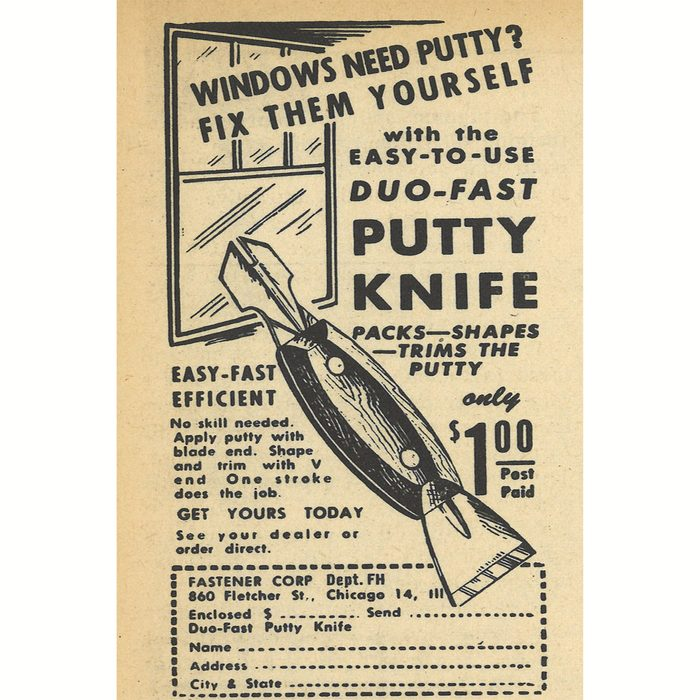 An ad for Duo-Fast Putty Knife   Construction Pro Tips