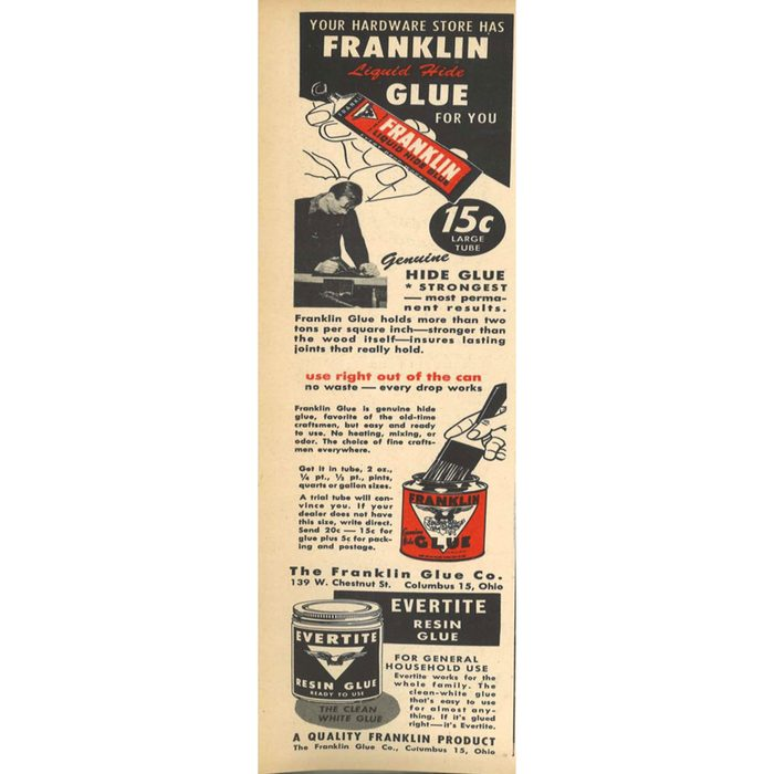 An ad for Franklin glue   Construction Pro Tips