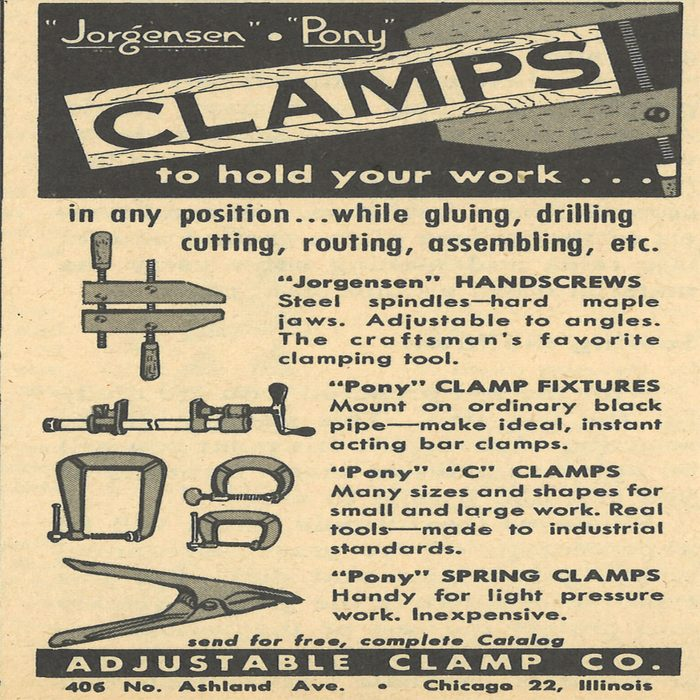 An ad for Jorgensen Clamps   Construction Pro Tips
