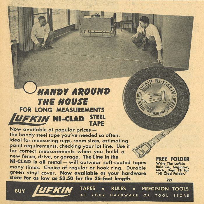 An ad for the Lufkin NiClad Steel Tape   Construction Pro Tips