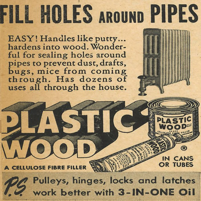 An ad for Plastic Wood   Construction Pro Tips